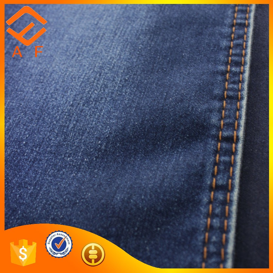 A lot of stock denim materia for india jeans fabric with lycra 2017