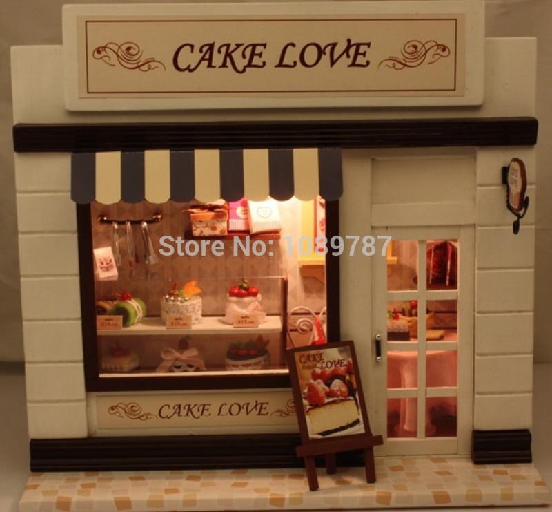 Handmade DIY Wooden Dollhouse Miniatures DIY Kits Bakery