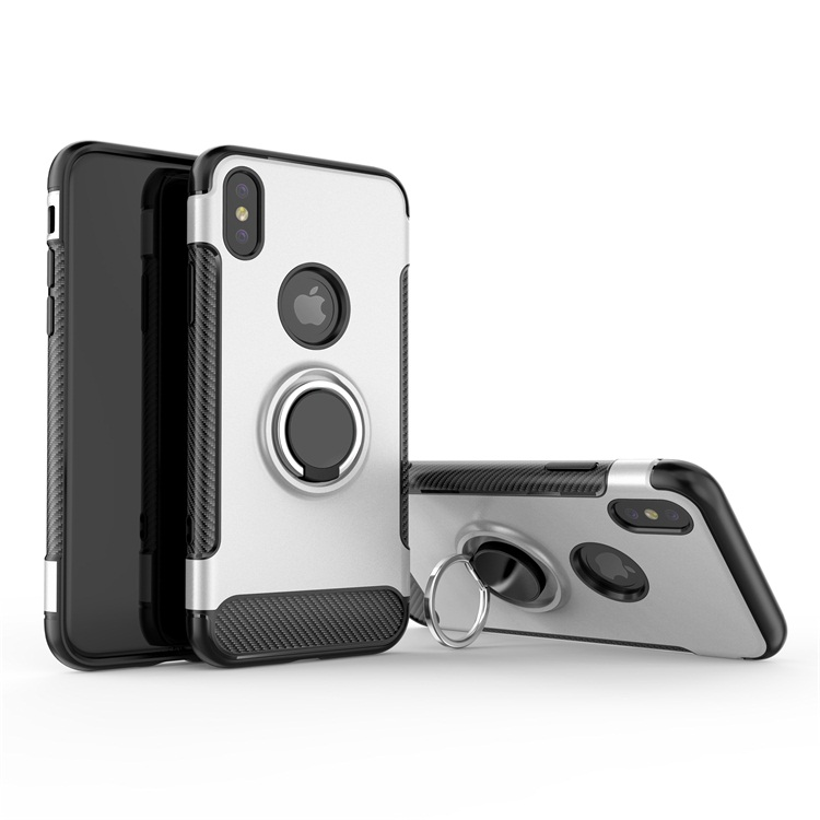 Anti gravity phone case carbon fiber for <strong>iphone</strong> X case with ring kickstand