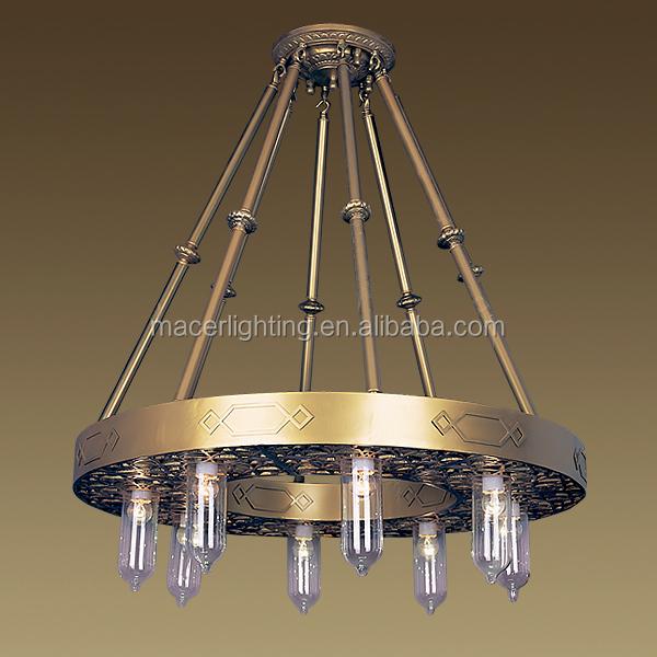 Arabic Antique Mosque Brass Chandelier Large Hanging Lighting ...