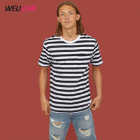 2018 hot sale stripe pattern oem design beach holiday casual dri fit white men custom tee shirt bangkok clothes
