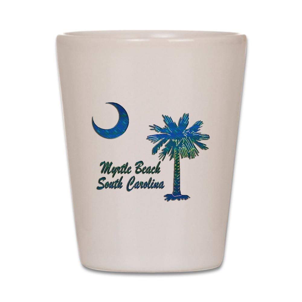 CafePress - Myrtle Beach 1 Shot Glass - Shot Glass, Unique and Funny Shot Glass
