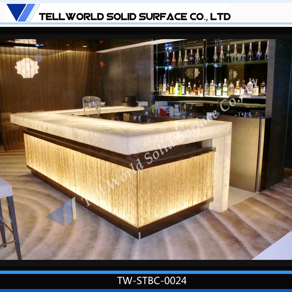 2016 hot sales bar counter led wine bar counter artificial marble furniture kitchen luxury bar. Black Bedroom Furniture Sets. Home Design Ideas