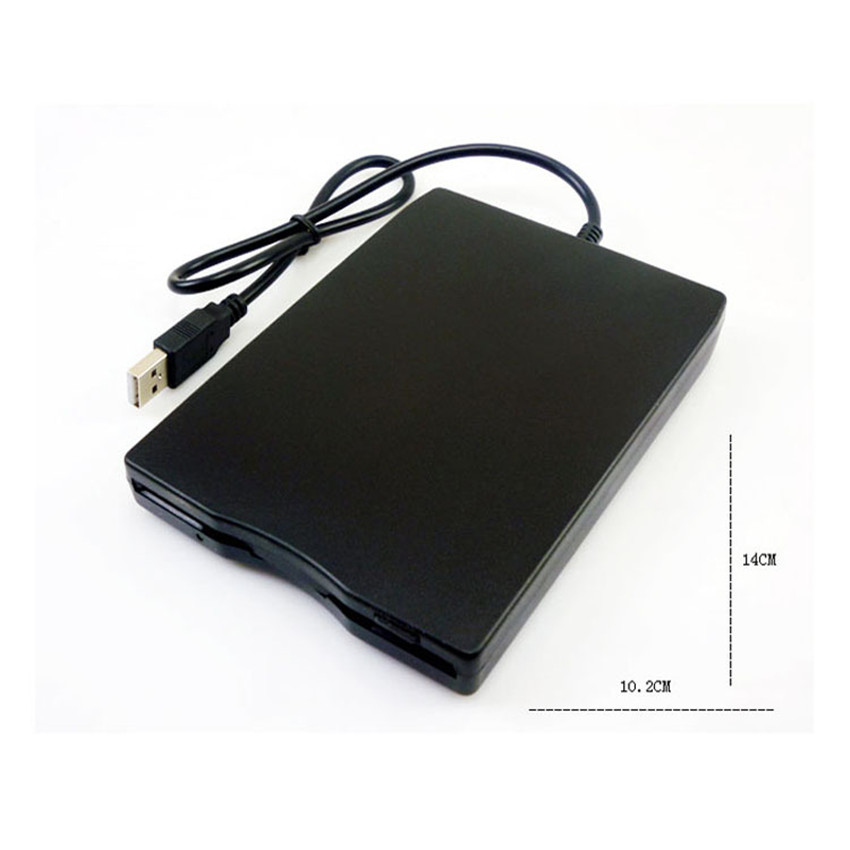 3.5 inch Portable External Floppy Drive Disk 1.44 MB FDD USB Floppy Drive CD Emulators for Laptop Computer Plug and Play CA6260