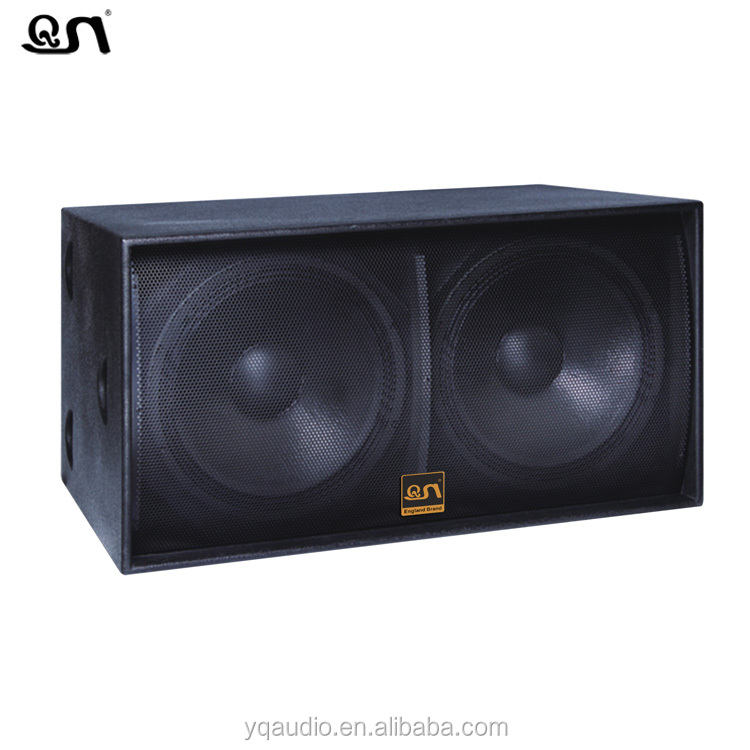 1200W dj bass speakers dual 18 inch subwoofer box(S218)