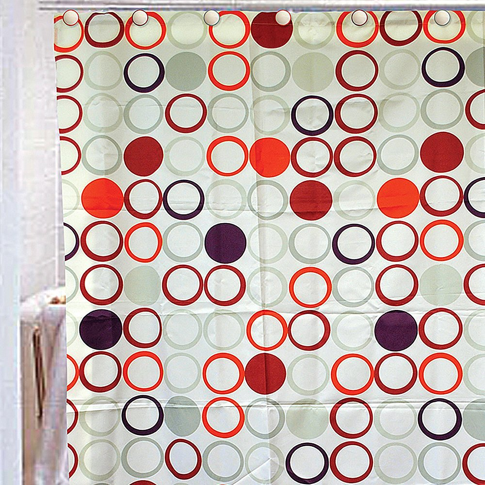 Florida Brands Circle Design Rope Shower Curtain Set