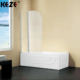 Small Space Bath Shower Glass Screen & Flexible Folding Bathtub Shower Door For Room