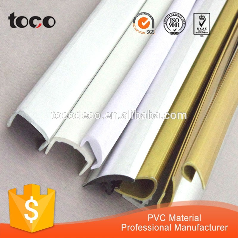 Pvc U Edge Trim Factory Extruded Flexible Plastic U Trim U Shaped Trim -  Buy Flexible Pvc Trim,Pvc Tile Trim,Plywood Pvc Edge Trim Product on