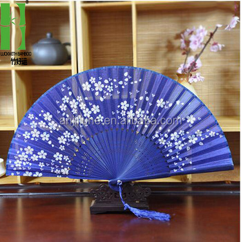 blue chinese silk hand paddle folding template fan buy silk hand
