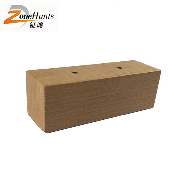 Simple Sofa Legs Unfinished Square Wood