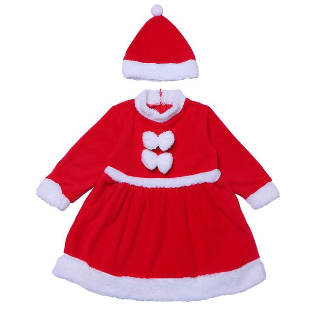 4d4d47f46 kids baby little girl red velvet Christmas new year costumes for 1-3 years  old