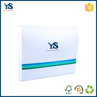 The most popular white plastic box file folder with handle for use