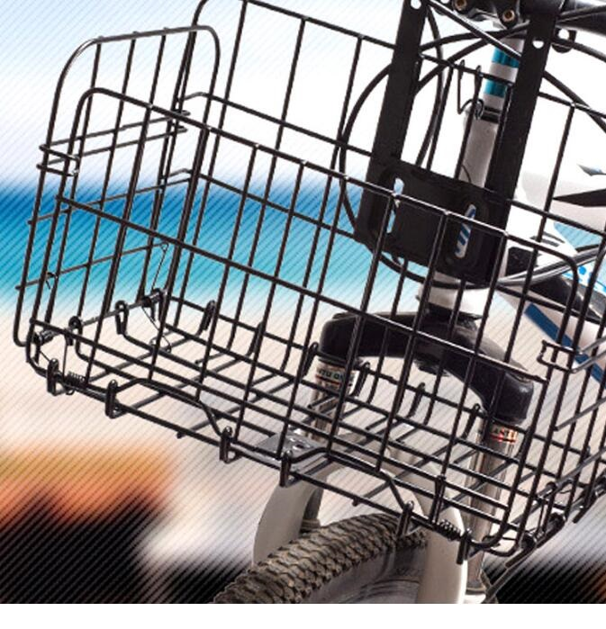 Cheap Custom Bike Metal Bike Baskets Part Bicycle Gabion Baskt