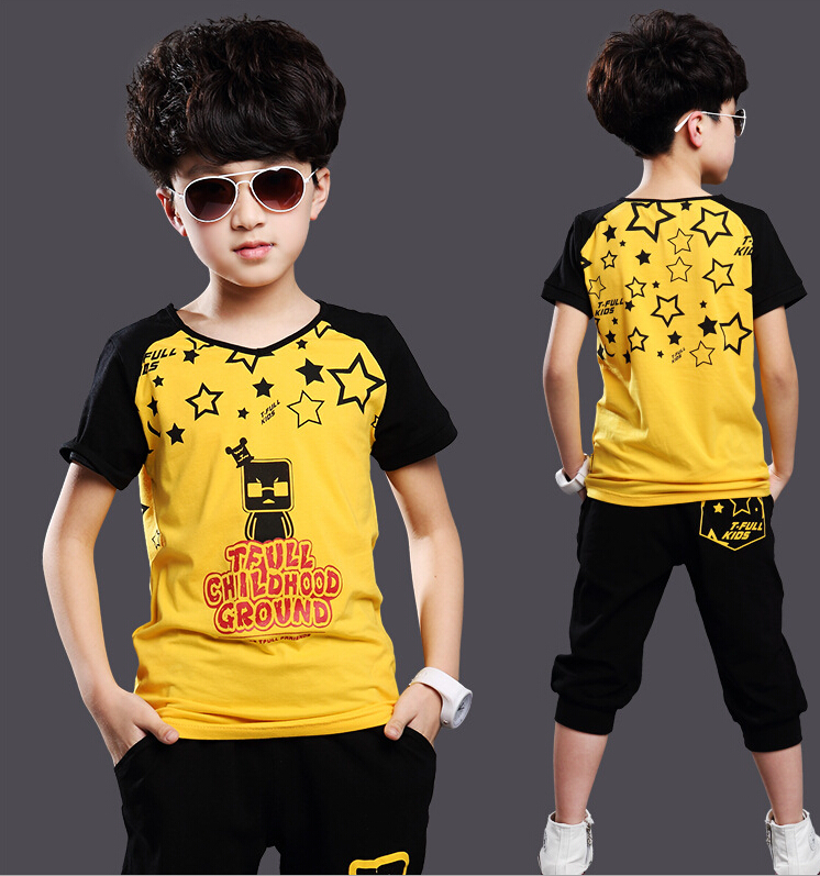 New Children' Sets Kids Boys Stylish Stars Letters Printed ...