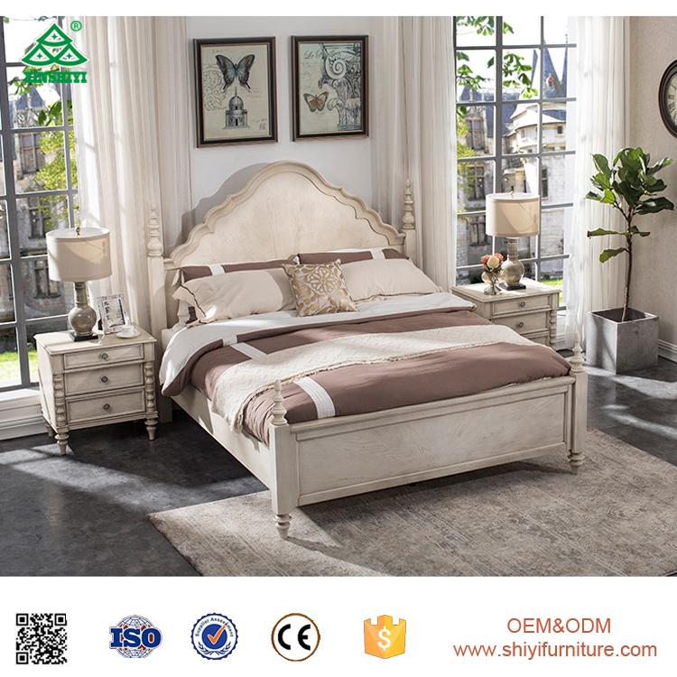 Dormitorio Muebles De Madera De Teca Últimas Diseños Cama Doble ...