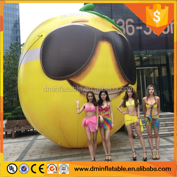 Inflatable lemon model for decoration inflatable advertising fruit model replica C-331