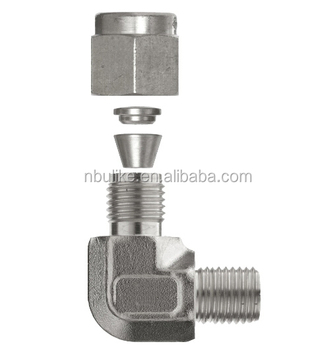 304/316 Stainless steel 90 degree elbow tube fitting