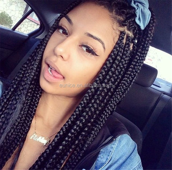 Eunice Newest Style Box Braid 24inch 100g Pcs Pure Color Synthetic Hair