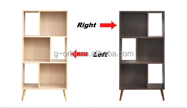 2015 New Design 6 Cube Modern Wood Bookcase/Furniture Wooden Bookshelf/Wooden  Book Shelf