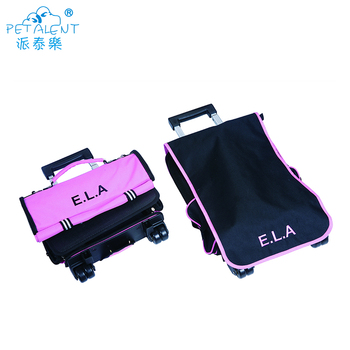 Hot Selling Lightweight Fabric Travel Trolley Pet Carriers Cat Bag With Wheels