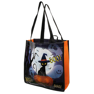 dc962416dae2 Promotional Cheap custom pp Halloween Trick or Treat Bags Reusable Party  Favor Bags