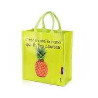 Best seller big capacity fruit printing non woven eco-friendly shopping bag