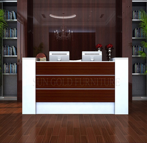 Modern office counter table/front desk counter/reception desk design (SZ-RTB020)