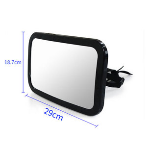 Full adjustable large wide backseat baby car mirror for rear view use