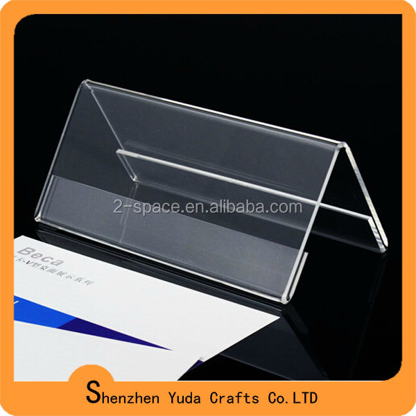 L Shaped Clear Acrylic Sign Holder Desk Label Display Name Card