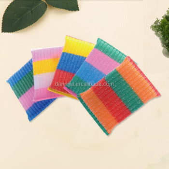 Shining Colorful Kitchen Cleaning Scouring Sponge Scrubber