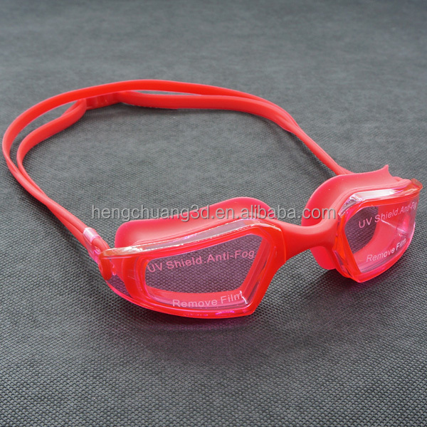 New UV Protective Silicone Competitive Youth Swim Goggles With Adjustable Strap
