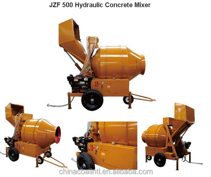 reversing drum concrete mixer has low Reversing concrete mixer working mechanism  so double-conic reversing concrete mixer has stronger mixing  this drum concrete mixer has no out-feed.