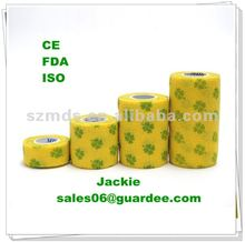Self adhesive nonwoven cohesive bandage latex free(CE, FDA approved)