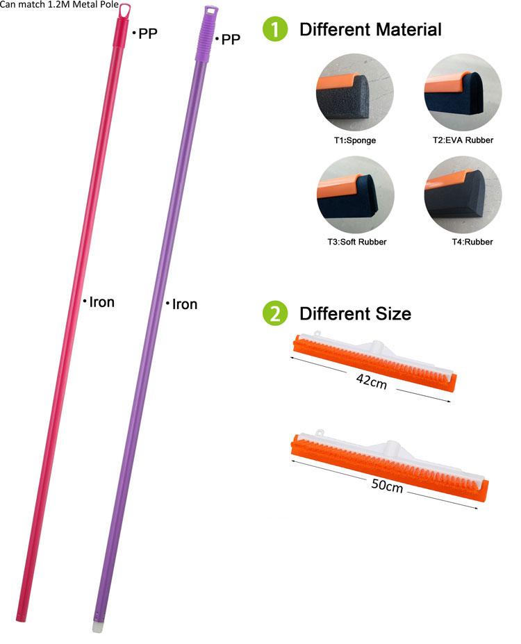 Individuelles LOGO siebdruck und farbe hause reinigung pinsel 42 cm rakel mit besen