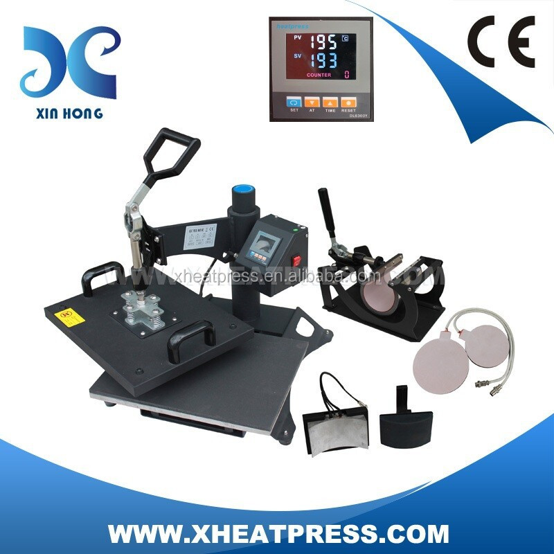 ce factory custom tshirt transfers 5 in 1 multipurpose digital printing machine HP5IN1