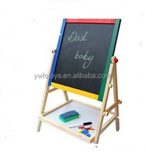 FQ brand 2017 new design wooden magnetic drawing board high quality wooden kids writing slate board