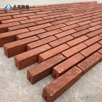 Curtain wall cladding facing clay terracotta brick