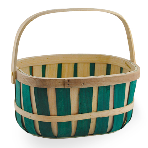 china suppliers round apple stencil bushel wood gift basket with leather handles