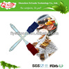 Kitchen tool silicone bbq cleaning brush with PP handle