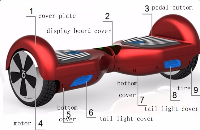 cheap hoverboard 10inch electric scooter smart bluetooth  for adults