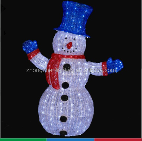 LED christmas acrylic Snowman with Top Hat Outdoor Christmas Yard Art  Decoration - Led Christmas Acrylic Snowman With Top Hat Outdoor Christmas Yard