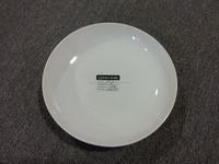 ZY012 White ceramics cheap white ceramic dinner plate / stock ceramic plate