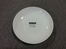 ZY012 White ceramics cheap white ceramic dinner plate / stock ceramic plate