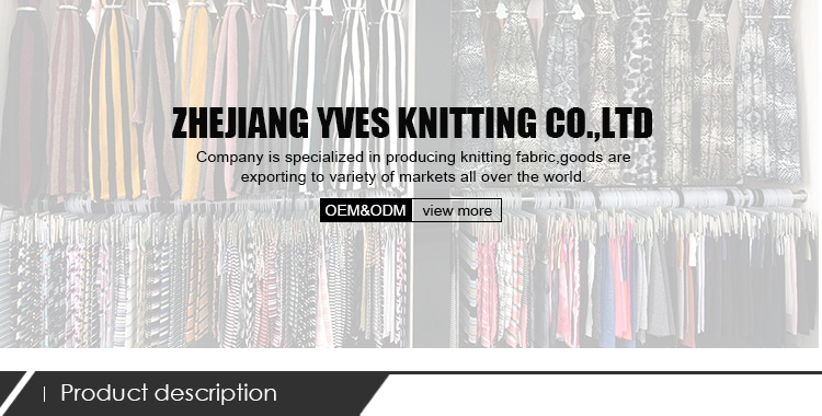 2019 नई शैली पॉलिएस्टर viscose रेयान खिंचाव कपड़े लोचदार परिधान बुनना कपड़े