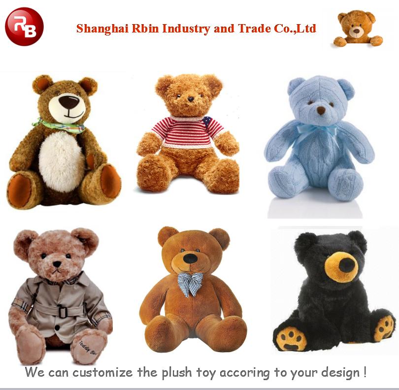 oem diseo navidad juguetes americana muecas juguetes de peluche oso de peluche gigante