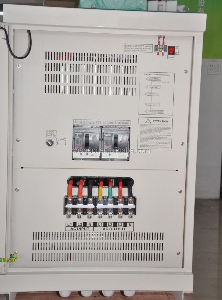 60kW Digitale Phasen-wandler 220VAC einphasig zu 380VAC drei phase ...