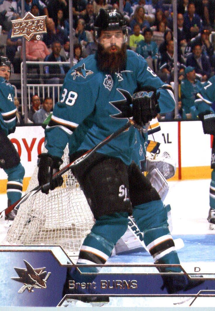 2016-17 Upper Deck Series 1 #148 Brent Burns San Jose Sharks Hockey Card