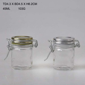 45ml Small Gl Storage Jar Container
