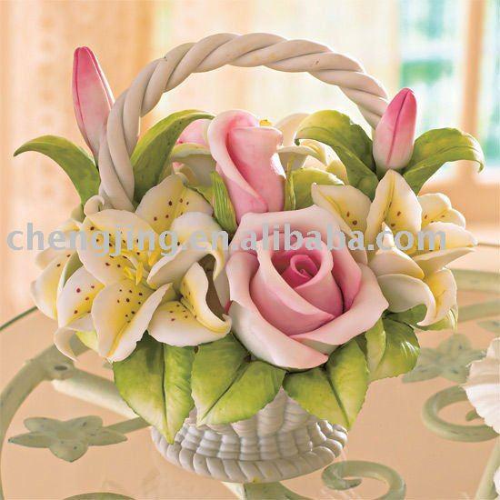 Ceramic Handmade Flower Basket