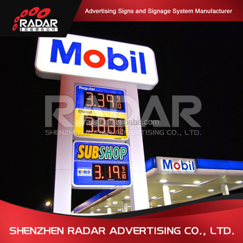 gas stations names baord service station sign board metal digital free standing price screen gas station